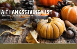 A Thanksgiving List